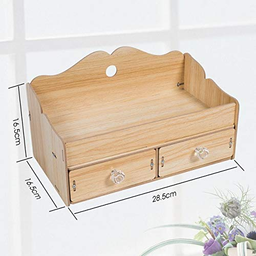 (BeesClover New Wooden Jewelry Box Desktop Casket for Decorations for Storage DIY Jewelery Rangement Makeup Storage Organizer Oak)