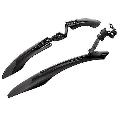 Axiom Mud Runner DLX Front/Rear Clip-On Fender, Black/Grey