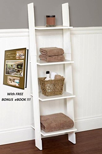 "Wooden Step Ladder Decorative Furniture for Home with free BONUS eBook : ""Home Decorating Tips!"