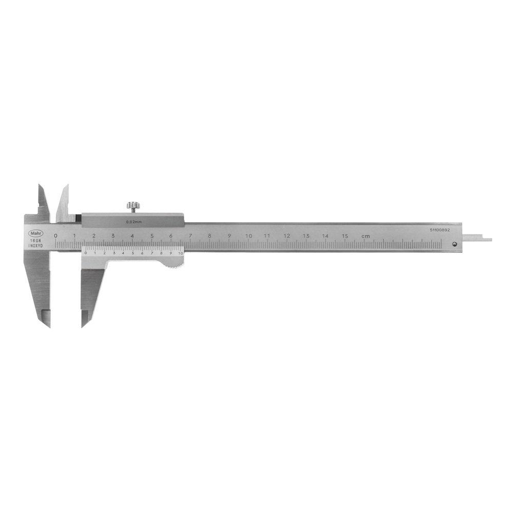 Mahr Taschen Messschieber 150 mm MarCal 16GN 0,02 mm mit Feststellschraube 4100650 Ablesung