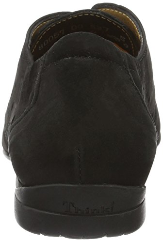 Think Wunda, Zapatos de Cordones Derby para Mujer Negro (Schwarz 00)