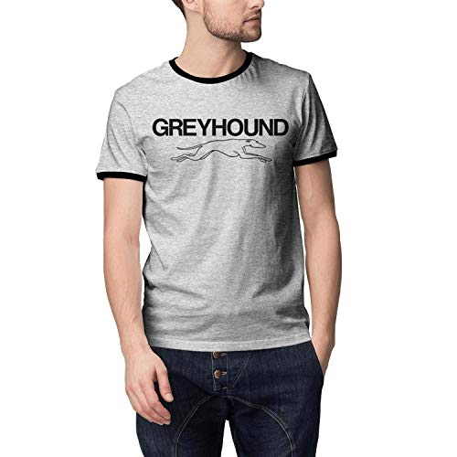 Young Men Greyhound-Bus-Line- Cotton Grey Short Sleeved Tshirts