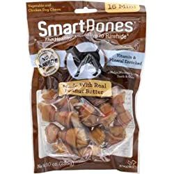 SmartBones Mini Peanut Butter Chews (16 Pack)