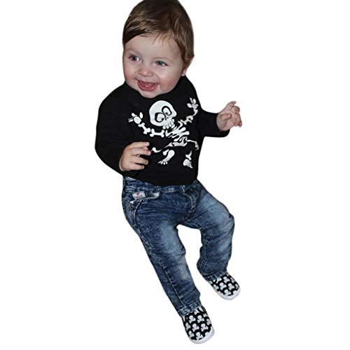 Hot Sale! vermers Children Halloween Bone Print T-shirt