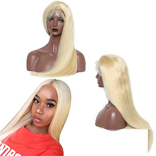 613 Blonde Glueless Lace Front Wigs Brazilian Human Hair Wigs With Baby Hair Silky Straight 13x4 Half Lace Front Human Hair Wigs For Women Natural Hairline 130% Density Cheap Wigs Wholesale 20 Inch