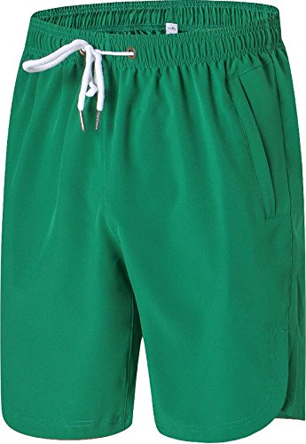 c76038747d Galleon - Mens Shorts - Quick Dry Stretchable Athletic Shorts For Running,  Training, Workout – Swim Trunks For Watersports Swimming (M, GREEN)