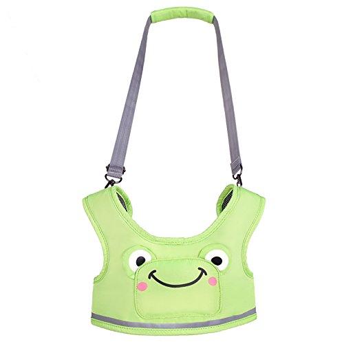 WYT Toddler Safety Walking Reins Harness Belt Adjustable Strap Walk Assistant,Green Frog Review