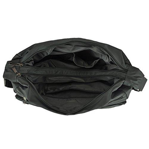 Pocket Waterproof Rock Multi large Messenger Crossbody Bags Gray Handbags Lightweight Nylon Shoulder Volcanic xd0zHYaqa