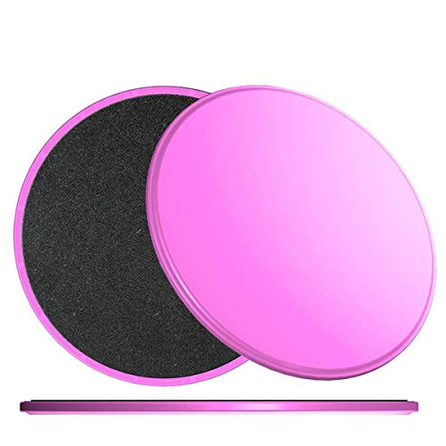 g Discs Core Workout Exercise Sliders, Double Sided Sliders, Core Fitness, Ultimate Core Trainer, Gym, Carpet and Hardwood Floors Home Abdominal Total Body Exercise Equipment -Pink ()