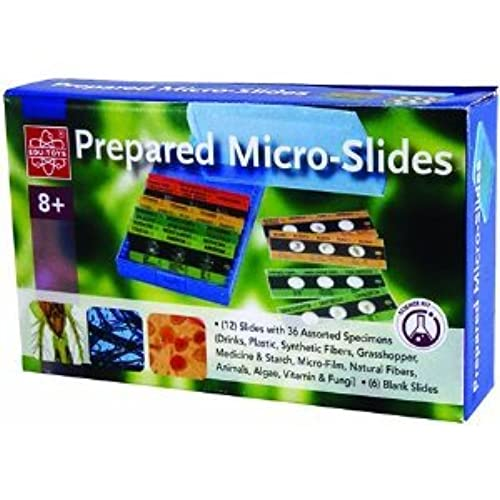 12 Prepared Micro-Slides + 6 Blank Slides # EDU-36730