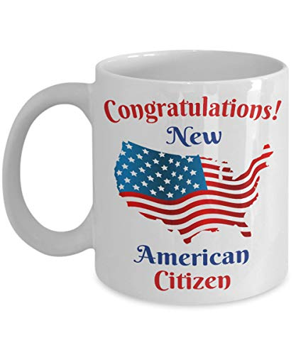 New Citizen Mug - Citizenship Gift with American Flag for Proud US Men and Women Coffee Cup