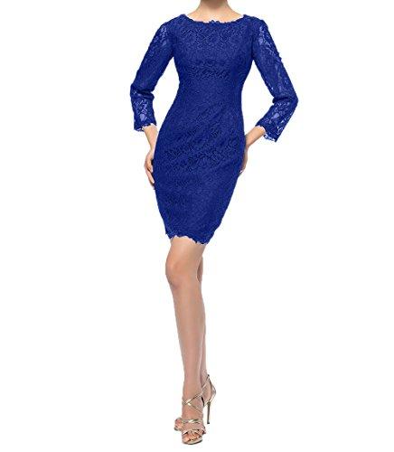 Abendkleider Damen Braun Kurzes Royal Blau Charmant Spitze Mini Etuikleider Brautmutterkleider Abschlussballkleider Partykleider Dunkel X4ZSq
