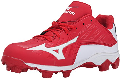 Mizuno Men's 9 Spike ADV Franchise 8 Baseball Cleat, Red/White, 10 M (All Red Baseball Cleats)