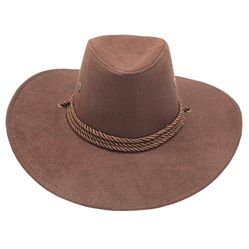 Kylin Express Fashion Fishing/Hunting Ten-Gallon Hat Cowboy Hat Outdoors Sports Cap Brown ()