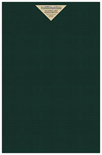 35 Dark Green Linen 80# Cover Paper Sheets - 11