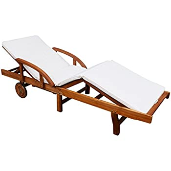 Amazon Com Festnight Patio Chaise Lounge Chair With 2