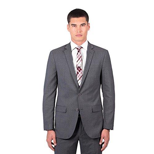 Combatant Gentlemen Men's Charcoal Modern Fit Suit 42 Regular Charcoal (Drop Blend Wool Shoulder)