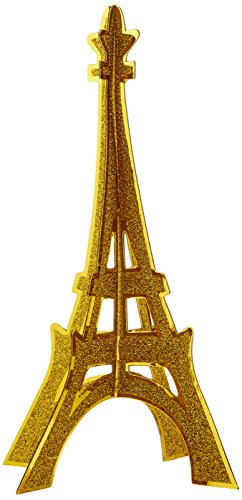 Glittered 3-D Eiffel Tower Centerpiece Party Accessory (1 count) (1/Pkg)
