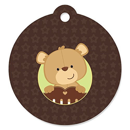 Baby Teddy Bear - Baby Shower or Birthday Party Favor Gift Tags (Set of 20)
