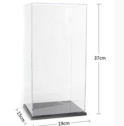 KENGEL 7.5x6x14.5 Inch Assembly Transparent Clear Acrylic Toys Display Dustproof Protection Showcase Case Box