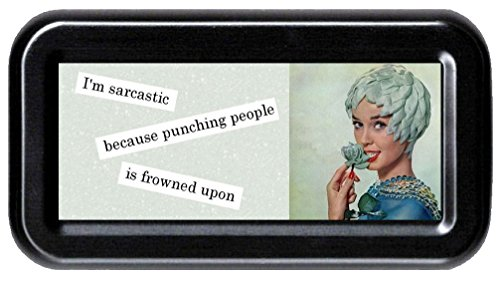 I'm Sarcastic Because Punching People Is Frowned Upon Sarcasm Funny Retro Tampon ()