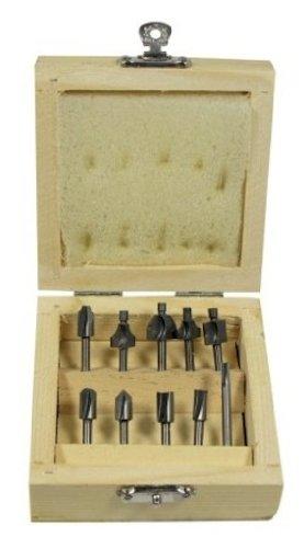 SE 82210RB 10-Piece Mini Router Bits Set for Dremel Tools