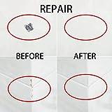 Tub and Tile Repair Kit Borui 2 Part Waterproof for Bathtub Fiberglass and Ceramic White