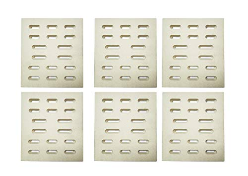 Zljoint (6-pack) Universal Replacement Heat Plate Flame Tamer, Ceramic Radiant Replacement for Select Gas Grill Models (8