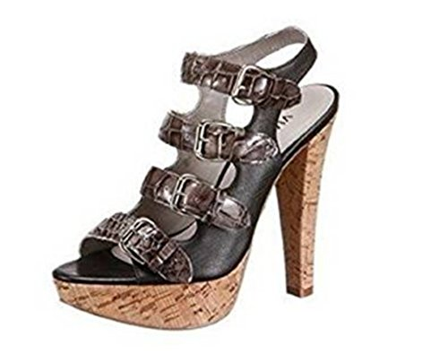 Via Uno Sandalette - Sandalias de Vestir Mujer negro - negro