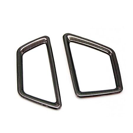 argento//nero acciaio inossidabile A//C davanti Grata Rifiniture interne per 3008 GT//5008 GT 2017 2018 argento
