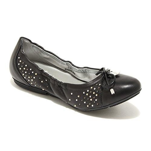 56909 ballerine donna HOGAN wrap 144 scarpe shoes women Nero