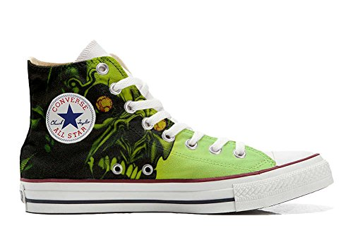 Converse Customized Chaussures Personnalisé et imprimés UNISEX (produit artisanal) horreur de crâne - size EU38