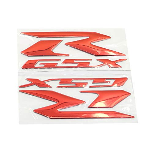GSXR Logo Red Motorcycle 3D Stickers Tank Decals Applique Emblem For Suzuki GSX-R GSXR 600 750 1000 GSXR600 GSXR700 GSXR1000