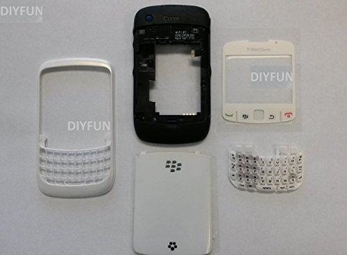 Blackberry Curve 8520 Full Housing Case Keypad Case Us White (Blackberry Housing 8520)