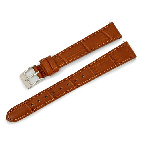 CASSIS AVALLON Alligator Grain Embossed CALF WATCH STRAP 13mm GOLD BROWN with Tool X1022238041013M