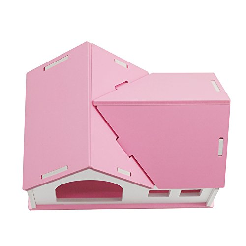 OMEM Hamster House Small Animal Hideout, Pet Mini Hut,Hamster Cabin,Hamster Cages,Portable Hamster Room, Pet Wooden Toys,Pet Hamster Toys by OMEM (Image #5)