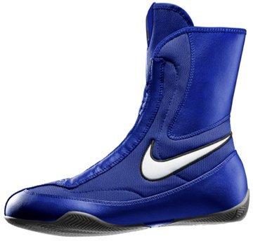 NIKE Men's Machomai Mid Boxing Shoes - Blue/White, 9.5 D(M) US