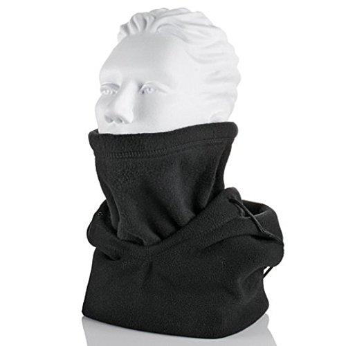 (Hot Headz Polarex 6-in-1 Fleece Hoodie, Black, One Size)