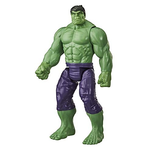 41r%2BqBCPdZL. SS500 Imagina a bruce banner convirtiéndose en el enorme héroe verde hulk con esta figura de hulk de 30.cm, inspirada en el diseño clásico del personaje de los cómics de marvel Los fans pueden imaginar al extremadamente fuerte hulk echando abajo muros y lanzándose a la aventura con esta figura de hulk, inspirada en el personaje de los cómics de marvel Conecta el lanzador blast gear (no incluido, se vende por separado con las figuras titan hero blast gear) al puerto posterior de las figuras titan hero series y titan hero blast gear para lanzar proyectiles con tan solo pulsar un botón