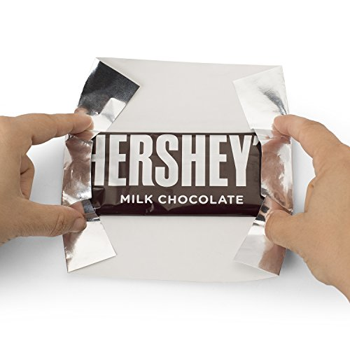 Hershey S Chocolate Bar Quot Silver Quot Foil Wrapper 6 Quot X 7 5