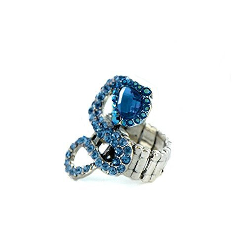 [Twinkle Crystal Metal Ring - Snake (Blue)] (Homemade Gothic Costumes For Women)
