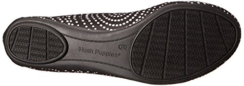 Hush Puppies Women's Chaste Ballet Flat Black/White best store to get online discount the cheapest discount cheap free shipping websites logRWq
