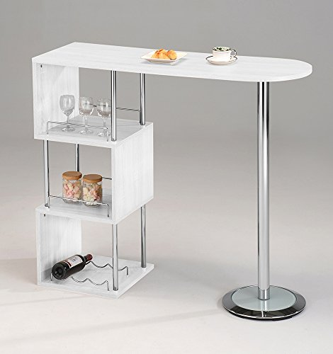 Best Brand Furniture Reviews: Kings Brand Furniture Bar Table With Storage Shelves With
