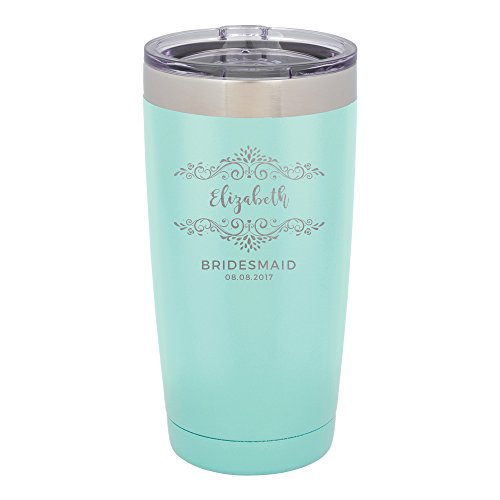Froolu Coffee Mugs For Women - Personalized Bridesmaid Favors Laser Engraved Tumbler - Hydro Travel Cup (Mug Favors)