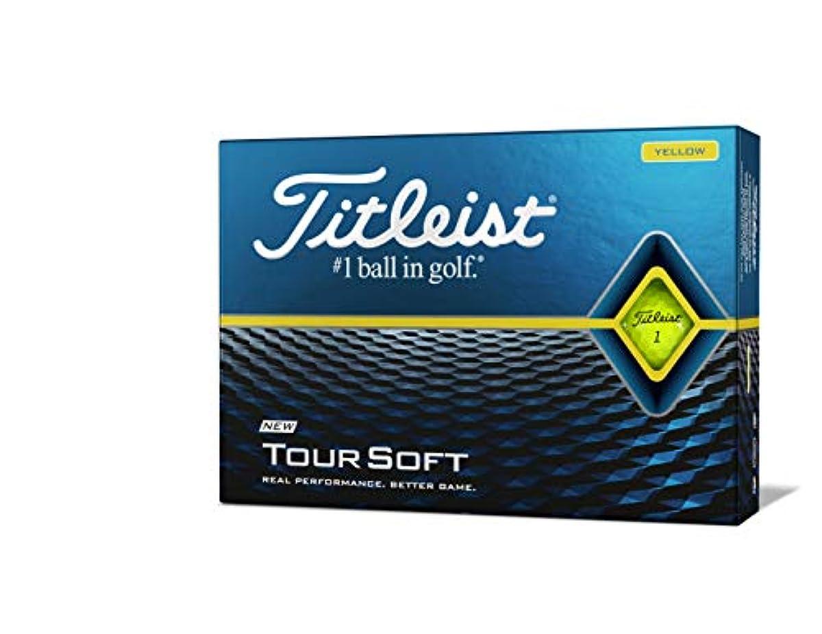 [해외] 타이틀리스트 골프 볼 TOUR SOFT 1다스 (12개 들이) 일본 정규품