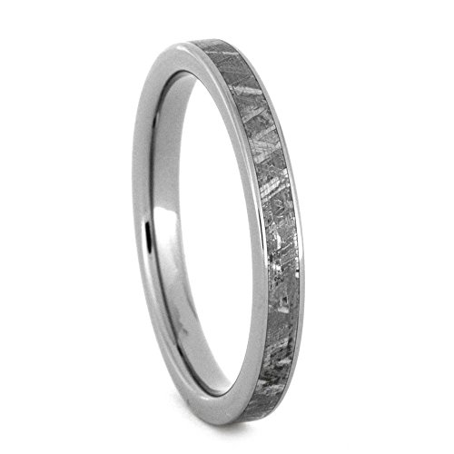 Gibeon Meteorite 3mm Comfort-Fit Titanium Band and Sizing Ring, Size, 8.75 by The Men's Jewelry Store (Unisex Jewelry)
