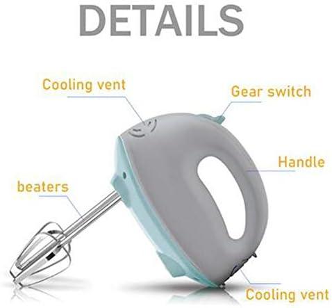 ALY 5 velocità Elettrico Sbattitore, Fruste Extra Lunghe per Impasti Dolci E Panna Montata, Ganci Acciaio Inox per Impastare