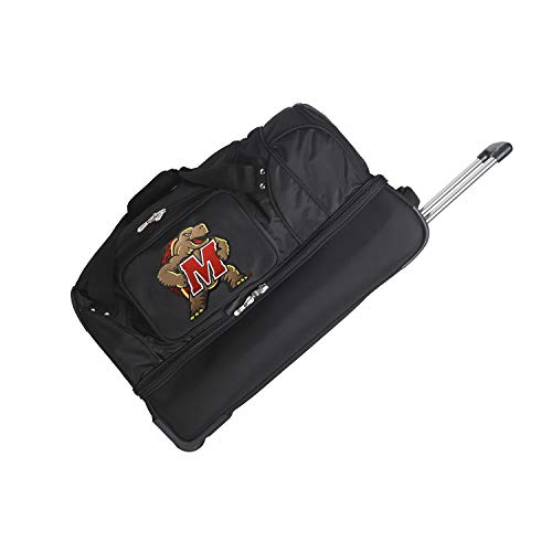 NCAA Maryland Terrapins Rolling Drop-Bottom Duffel Bag, 27-inches