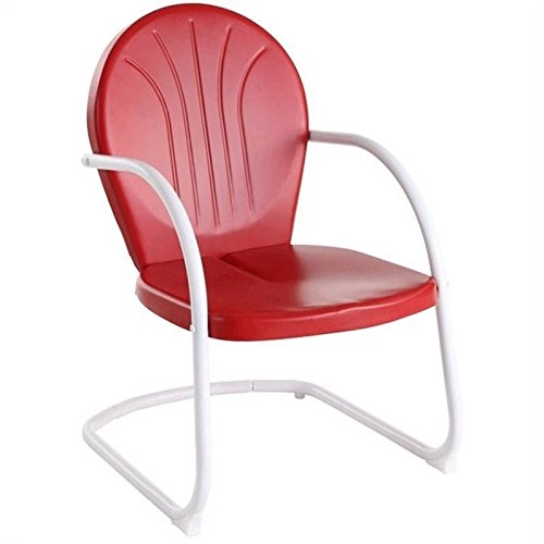 (Crosley Furniture Griffith Metal Outdoor Chair - Red )