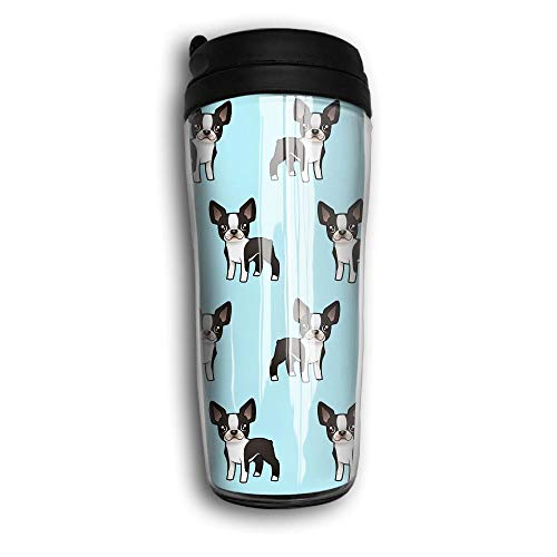 Mortimer Gilbert Cute Boston Terrier My Best Friend Premium Travel Cups Coffee Mug With Lid ()